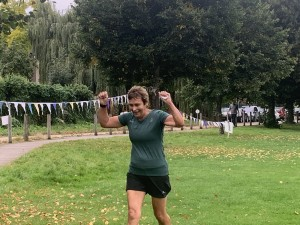 Penny completing her 300th Parkrun.  Which equals 1,500,000 metres/ 932 miles. An awesome achievement!