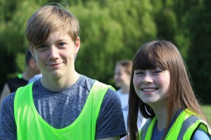 smily volunteers