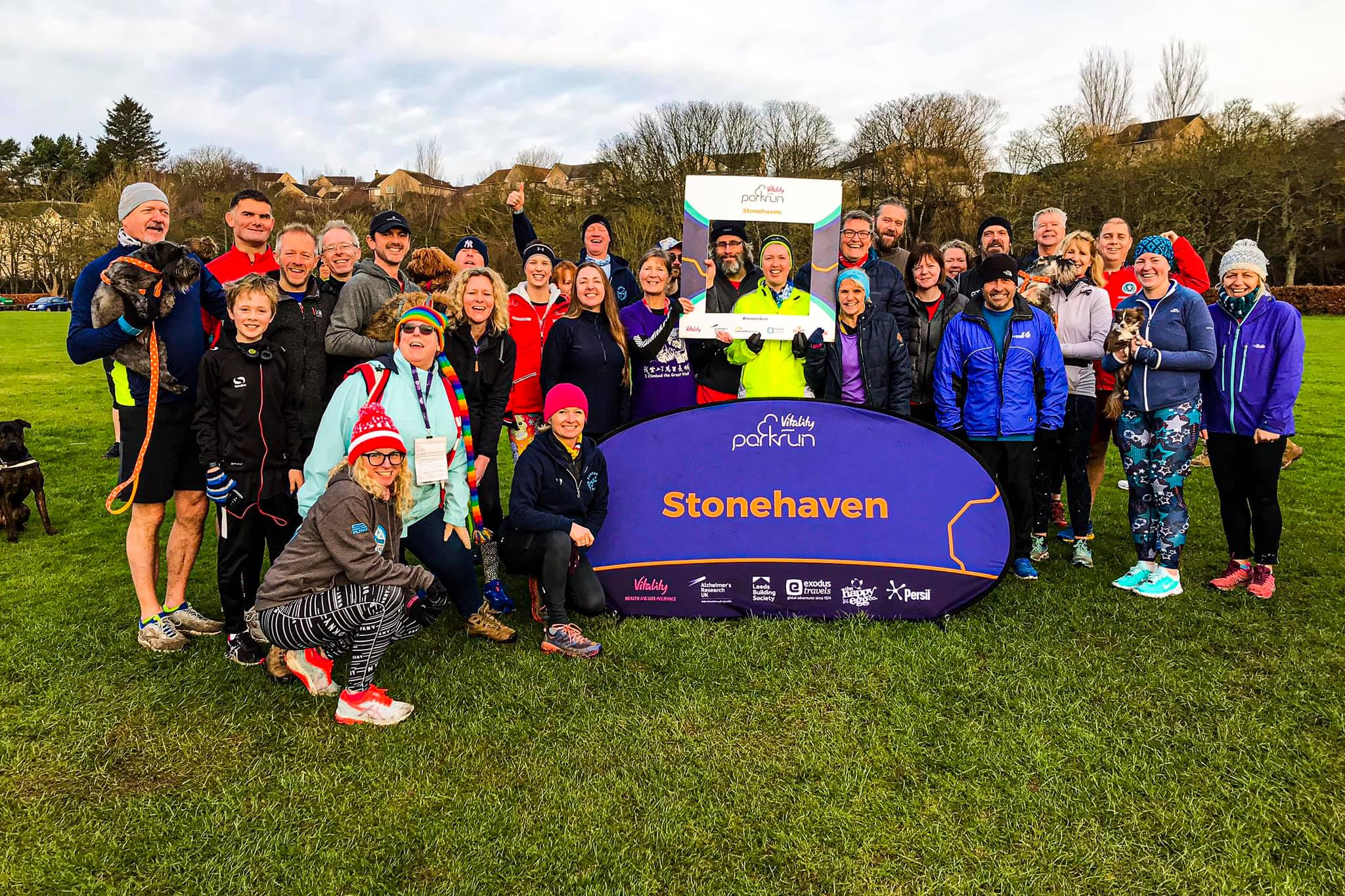 Montrose parkrunners at Stonehaven