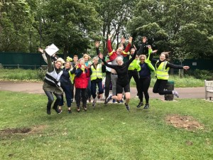 Leaping for joy – it's what you want to do after volunteering at Highbury Fields Parkrun!