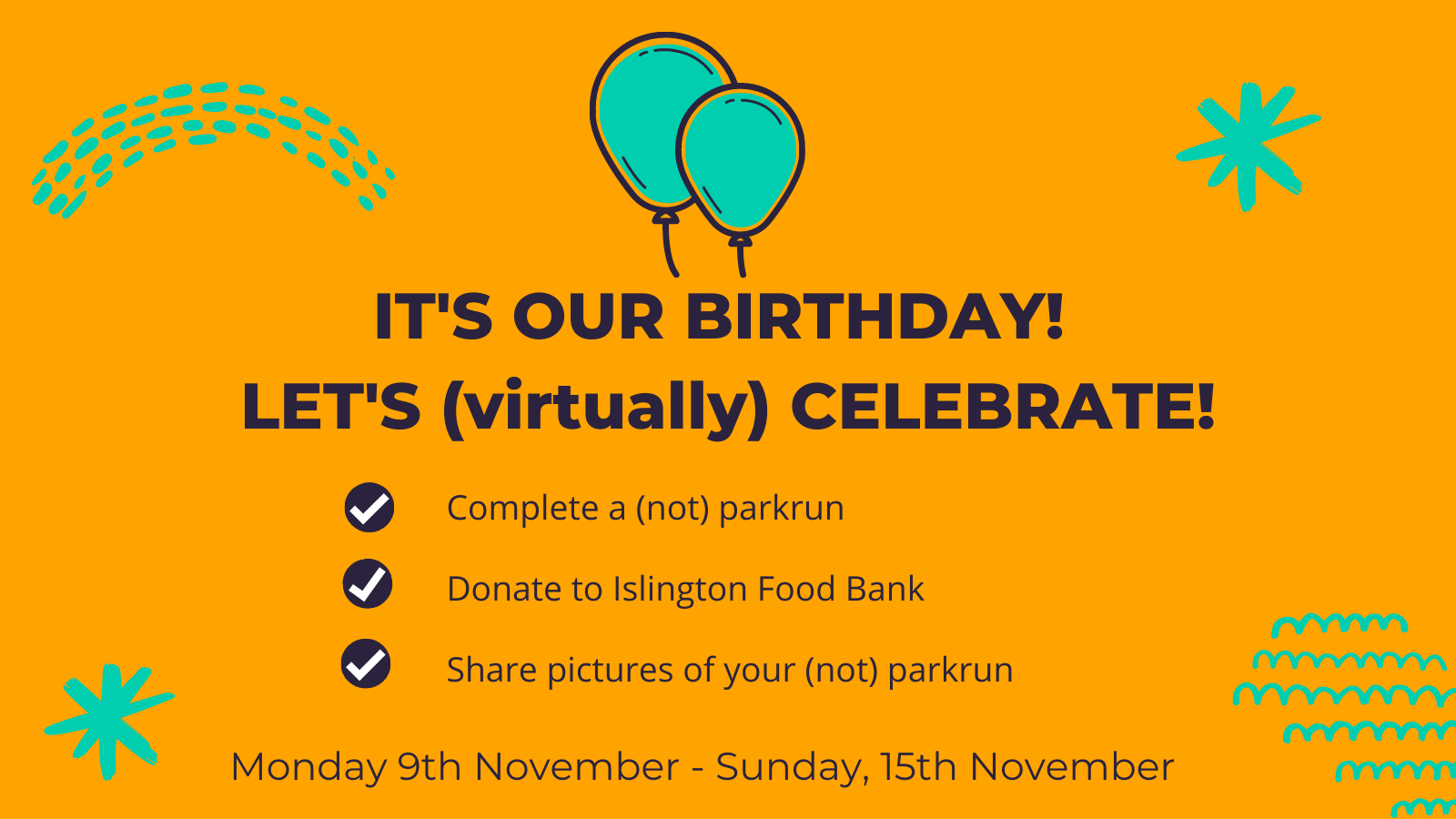 HF parkrun birthday Twitter
