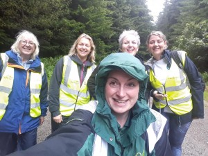 Soggy Volunteers