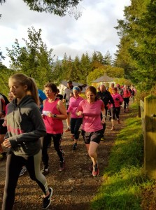 Pink ParkRunners set off