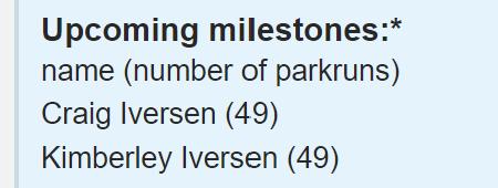 upcoming milestones