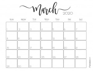 3-Elegant-2020-Calendar-March-Free-printables-SaturdayGift-1024x790