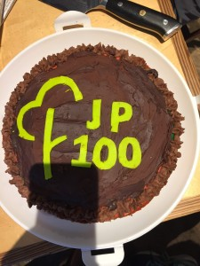Jarlath's cake to celebrate 100!