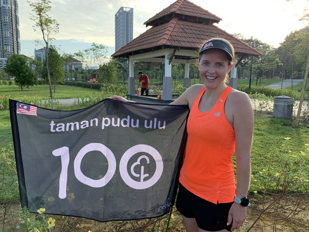 Georgina celebrates her 100 milestone