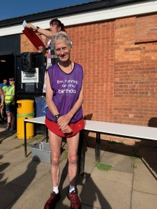 Graham Patton celebrated his (78th) birthday during the parkrun yesterday.