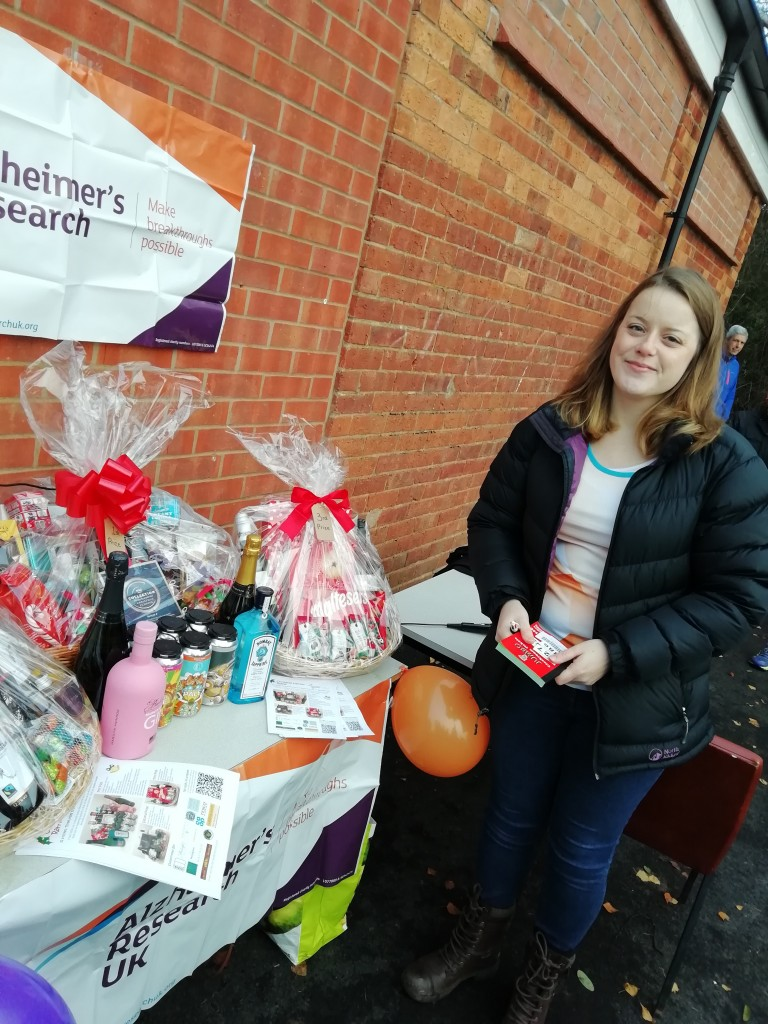 Jennifer Randall's raffle in aid of Alheimer's Research UK