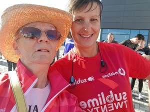 Cathy and Jo White today at parkrun.