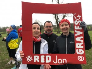 Runners taking part in Red January 25th January 2020