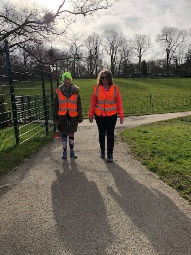 Beth and Joanne our Tail Walkers 7th March 2020