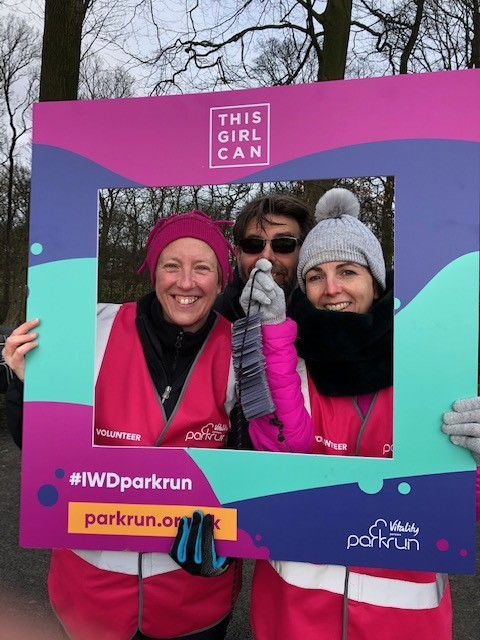 Lynn, Samantha and a cheeky Run Director 7th March 2020
