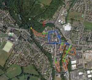 map of Llangefni car parks