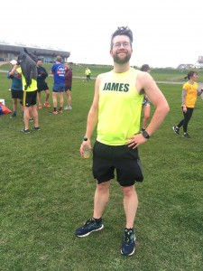 James, one of our regular runners, standing proud after achieving a new PB
