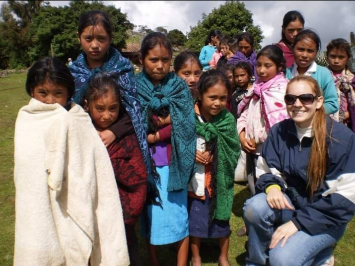Tiffany on a mission trip to Guatemala
