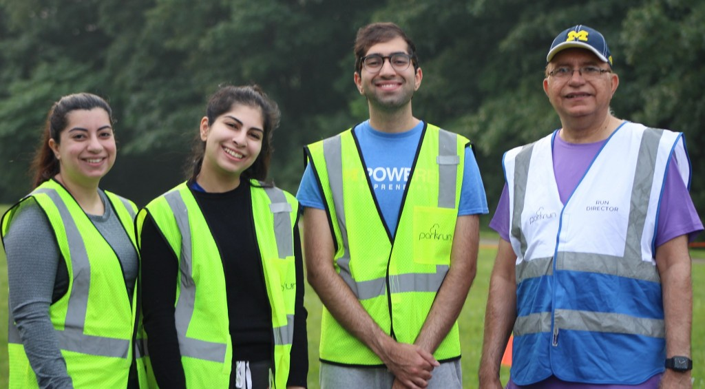 Kumar family volunteers