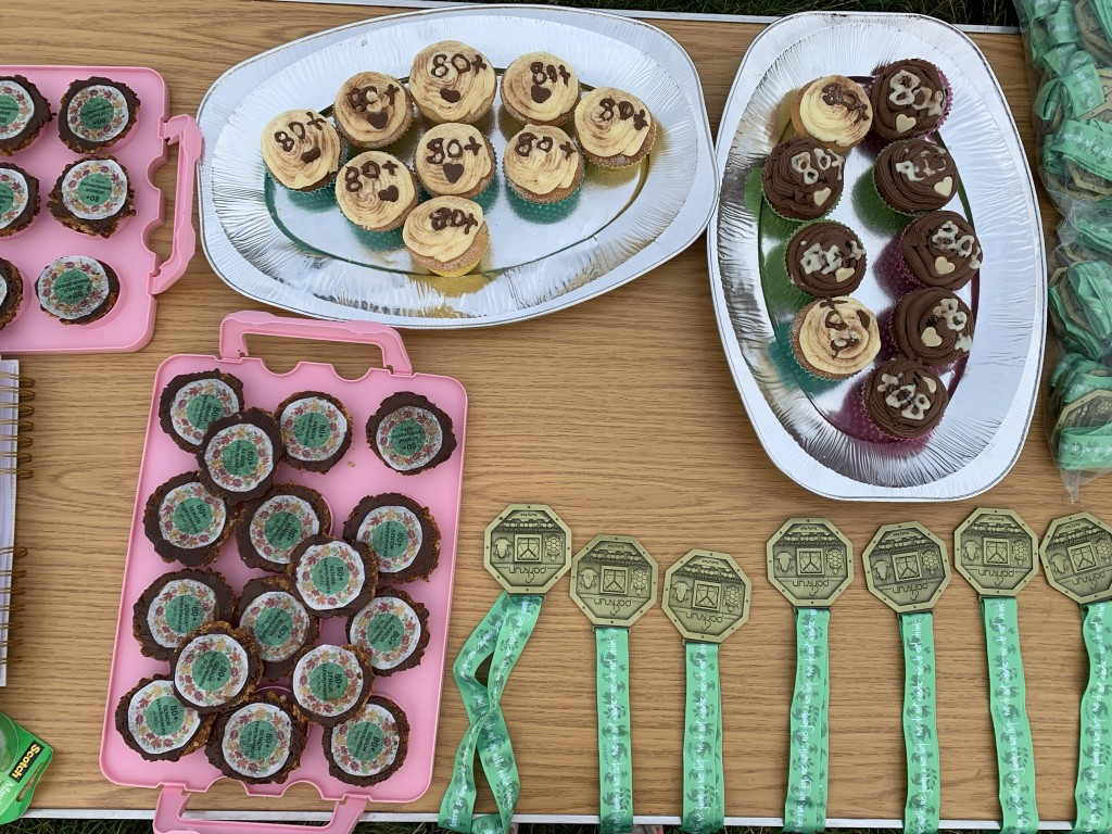 Cakes and medals