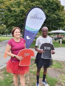 Congratulations Julie and Allan on your parkrun milestones, well done!
