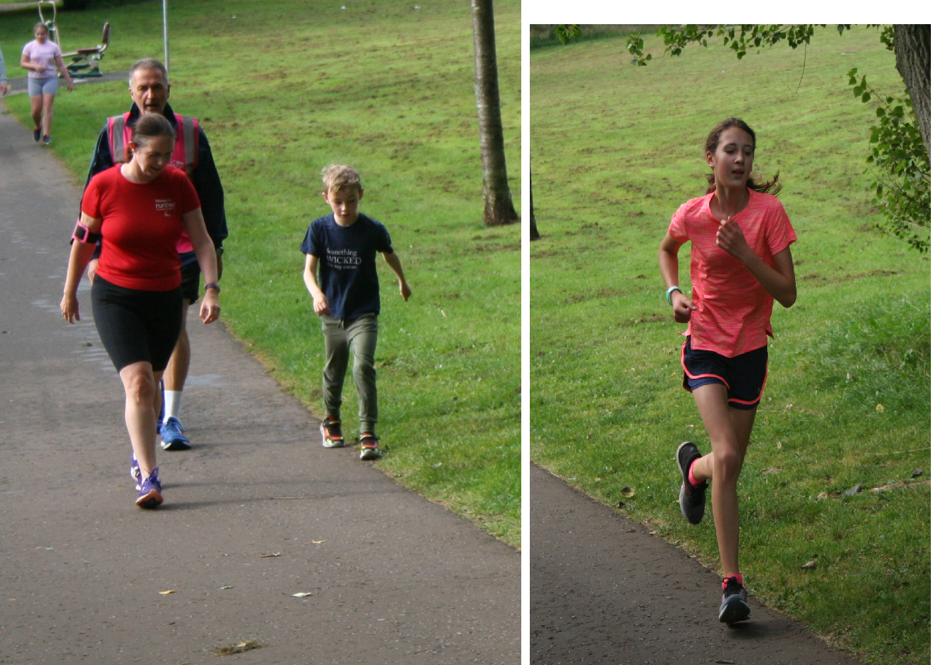 New personal bests on their 10th parkrun
