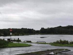 Loch from carpark in rain