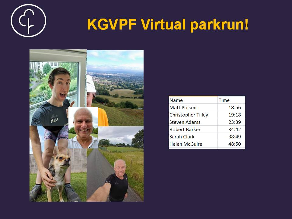 KGV Virtual parkrun results