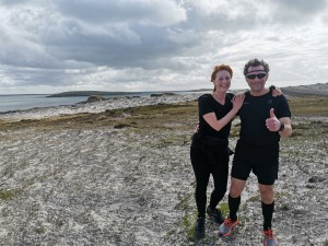 Mark Goulding and Sue Pulman at Cape Pembroke Lighthouse parkrun