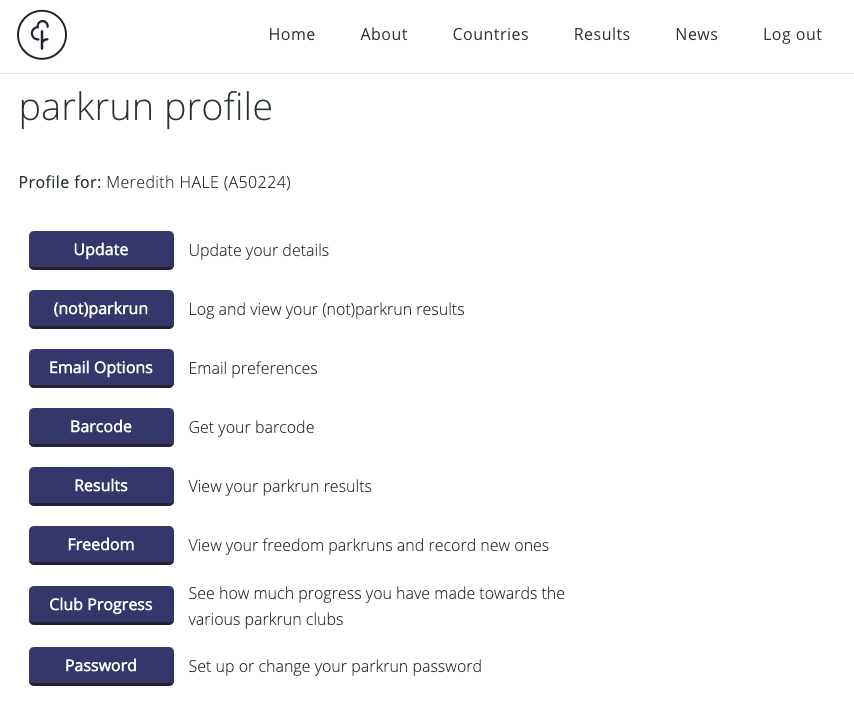 Login to your parkrun account to record (not)parkrun efforts