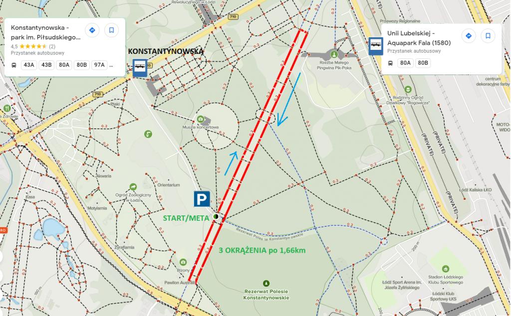 parkrun Łódź nowa trasa 2021