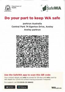 Safe WA Aveley Parkrun QR