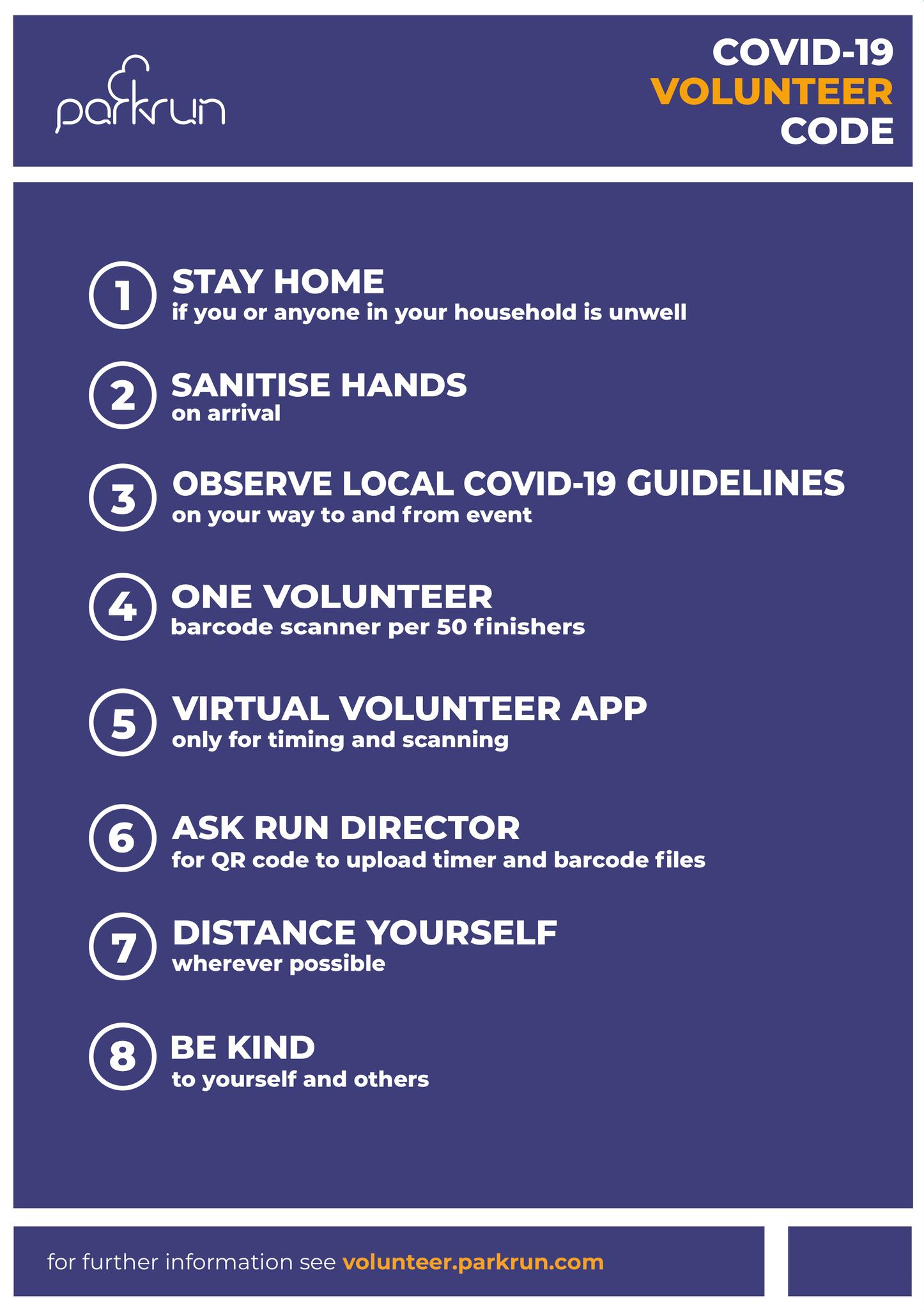 COVID19-parkrun-Volunteer Code