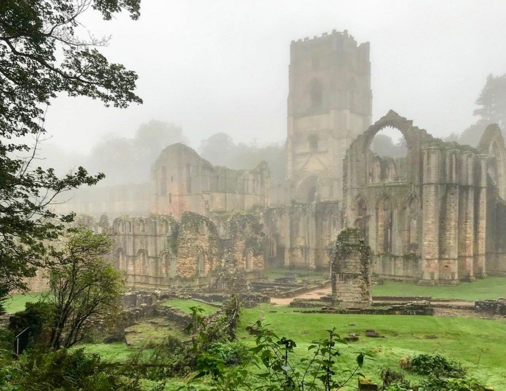 The ruins in the mist