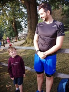 William used to tail walk in a carrier on his dad's back and now runs 5k