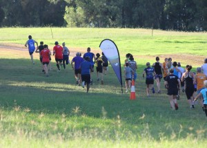 Penrith Lakes parkrun's cross-country hill start