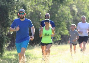 Powering along on Penrith Lakes parkrun's cross-country course