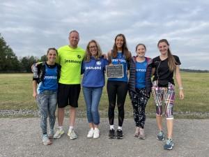 Jesmond Joggers volunteers with their Run&Talk sign