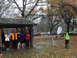 Richard Malloch guided the committed parkrunners to the finish.