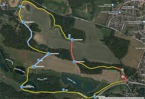 Panshanger parkrun Map all Points - Small