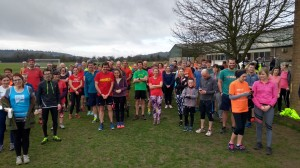 Harcourt Hill parkrunners at start of event 222