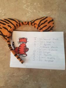 tiger workout