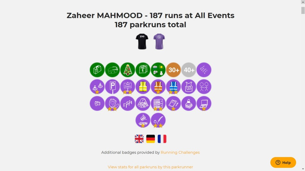zaheer running challenges