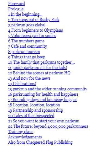 book contents