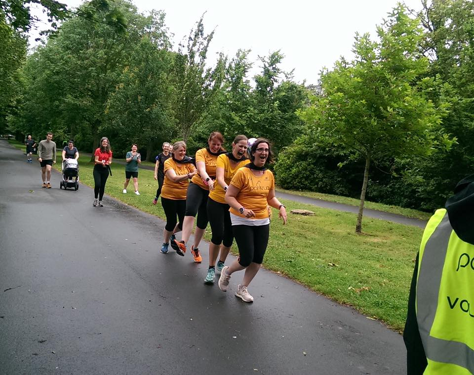 Catrin, Alex, Irene and Annie complete their 100th run