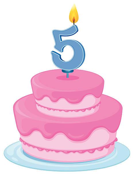 Birthday cake on a white background