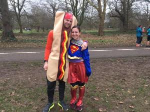 Hotdog and Superwoman 100th runs