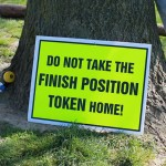 Do not take the finish position token home