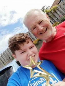 Jude with his proud Grandad