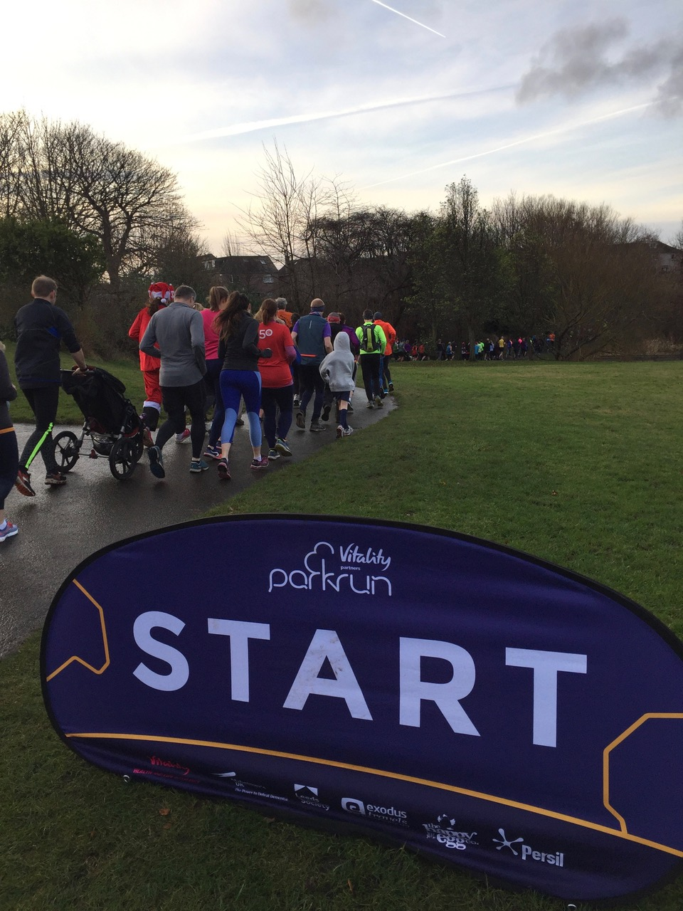 View of the runners from the start line on 28th December 2019