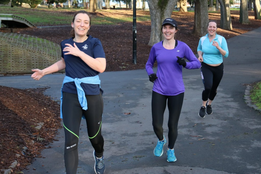 Group of girls with Beth finishing