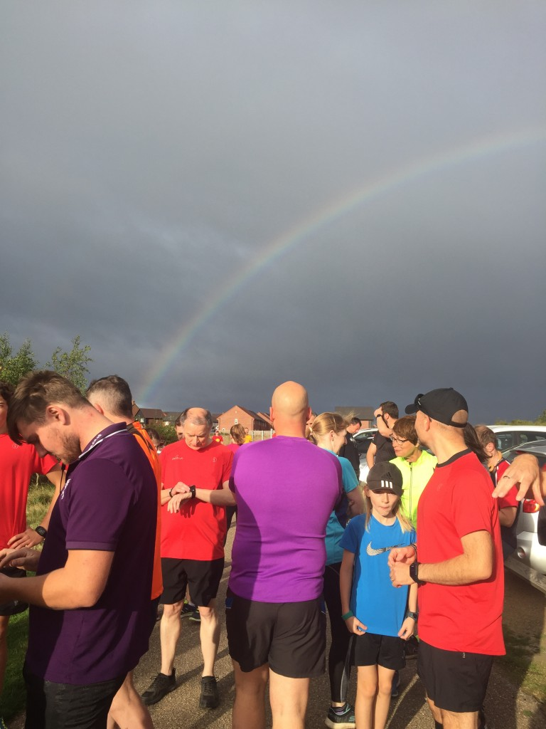 Rainbow runners under the rainbow - a promise of another great run?